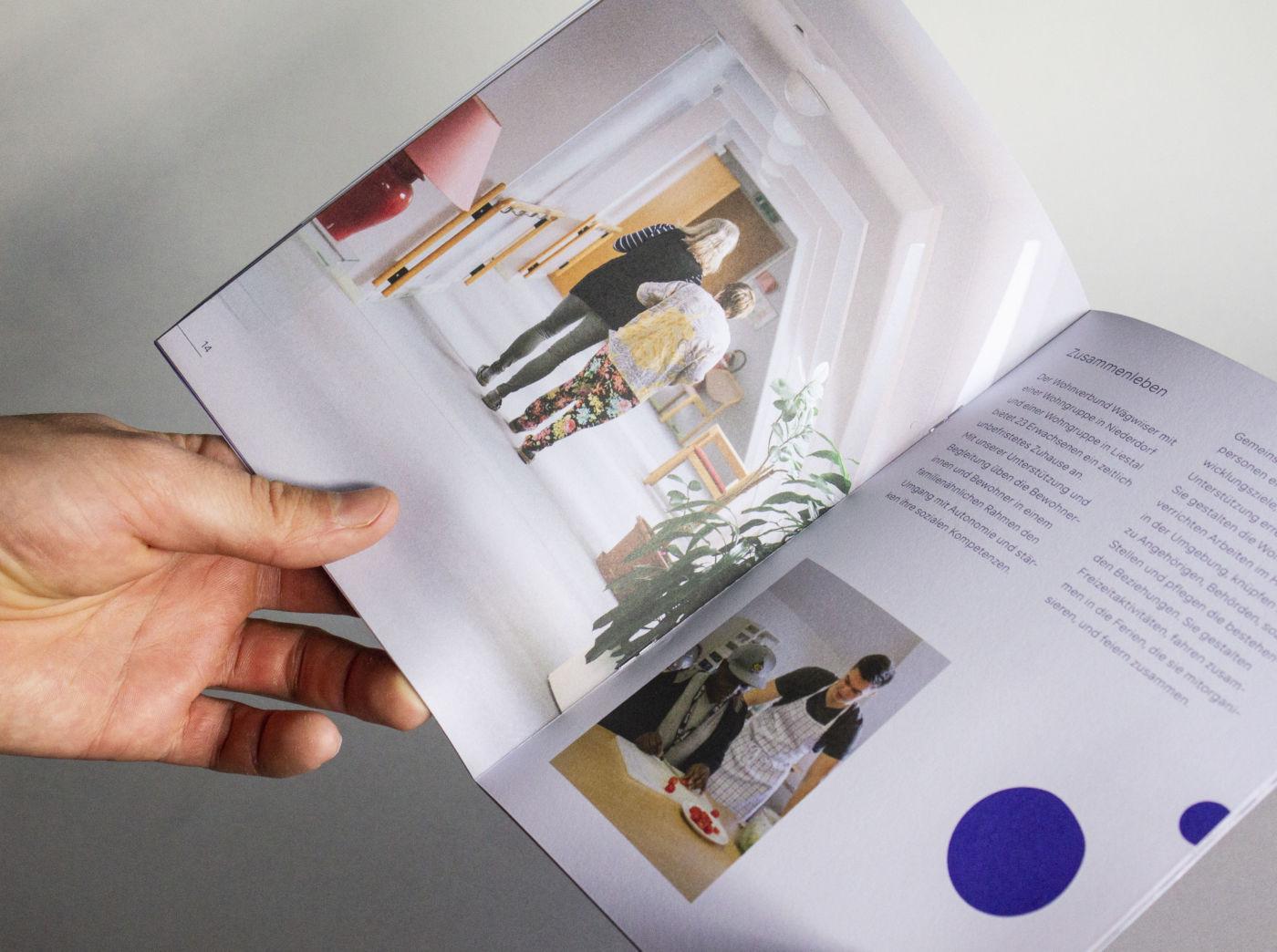 Neue Image-Broschüren | Aktuelles von inclusioplus · Arbeiten und Wohnen mitten in der Gesellschaft
