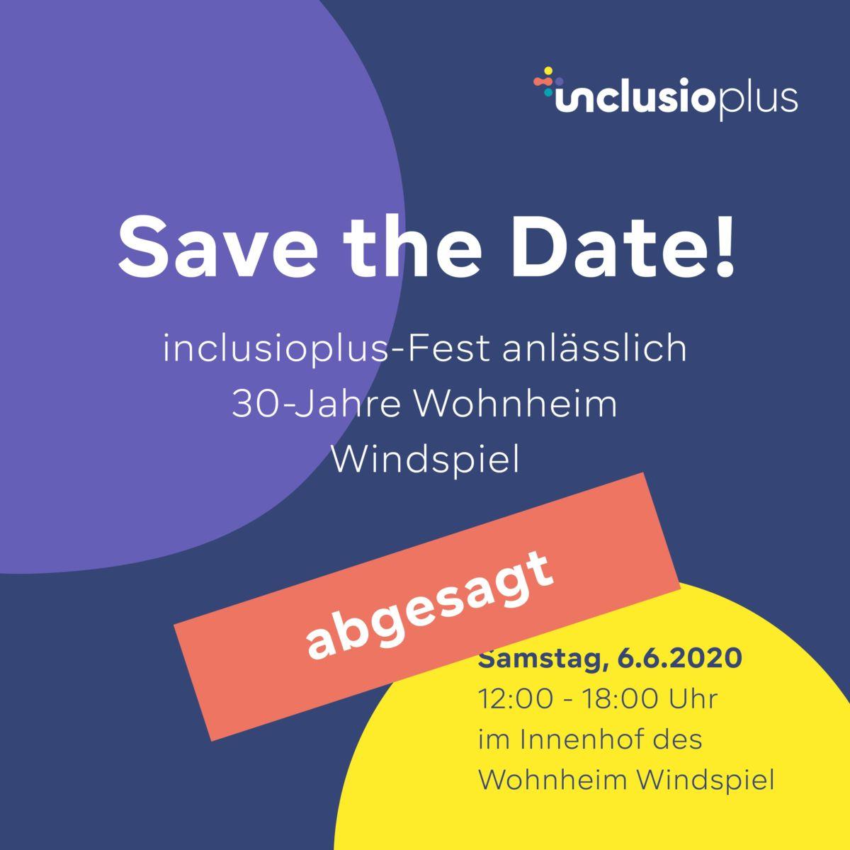 Abgesagt: inclusioplus Fest am 6. Juni 2020 | inclusio plus News · Arbeiten und Wohnen mitten in der Gesellschaft
